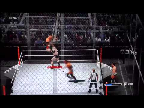 Wwe 13 Fatal 4 Way Hell In A Cell Ps3 video