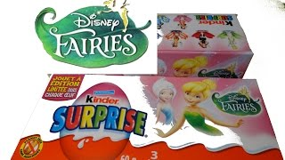Disney FAIRIES FAIRY 6 Kinder Surprise Unboxing Complete Box Tinker Bell Fawn Iridessa Pirate Fairy