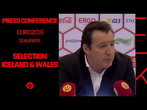 Press Conference Marc Wilmots: Selection Iceland – Wales