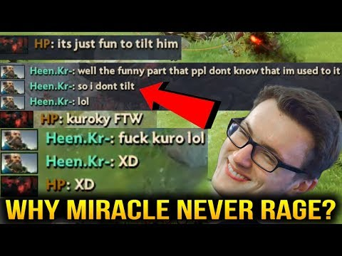 Miracle- This is why HE NEVER TILT in A Dota Game