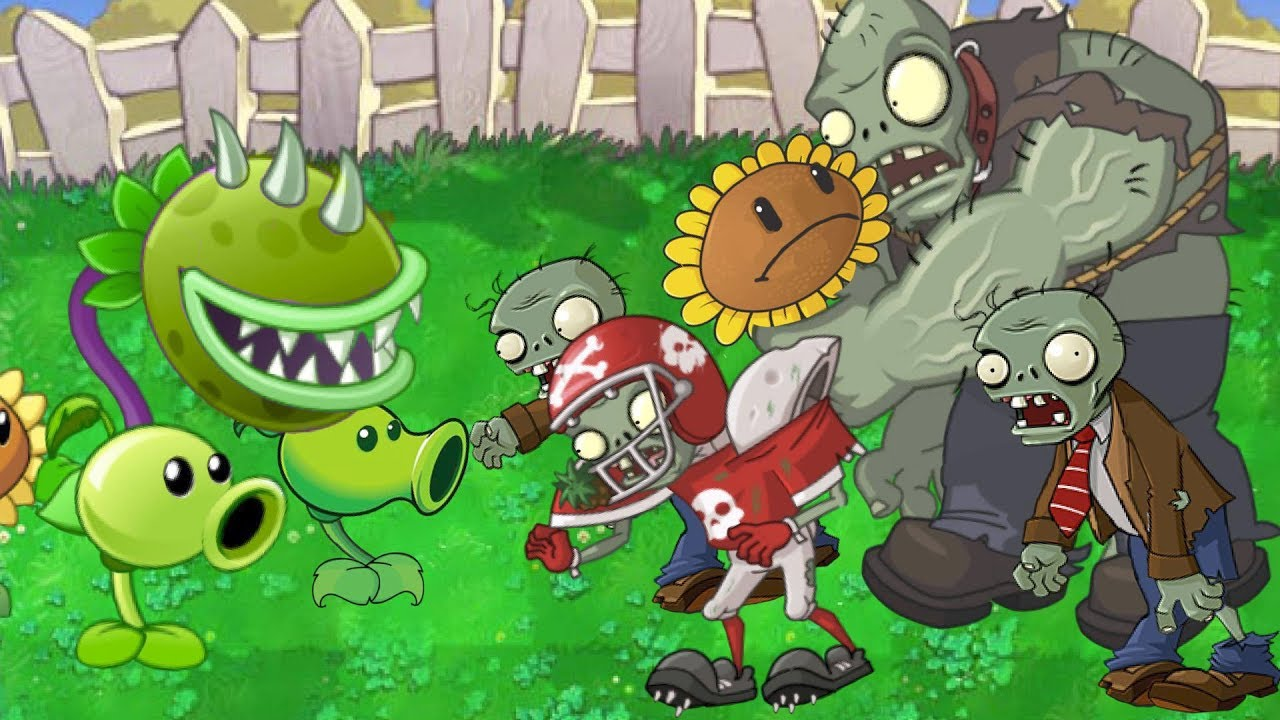 Plants vs. Zombies Animation Pvz 2 in Pvz1 (Cartoon)(parodia)