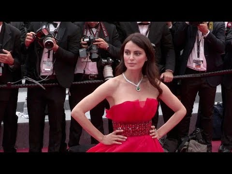 Catrinel Menghia on the red carpet for the Premiere of Yomedine in Cannes