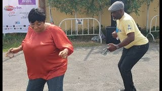 Ronke Oshodi And Funsho Adeolu challenged Themselves in dance competition at Adediwura's event