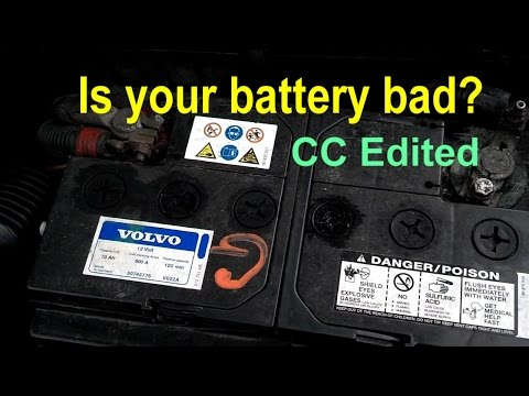 How to tell if your car battery is bad. weak or dead. Signs of a bad alternator. - VOTD