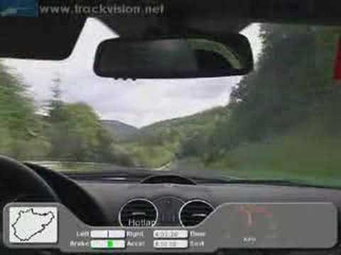 Onboard video Nordschleife Mercedes Benz CLK 500 coupé