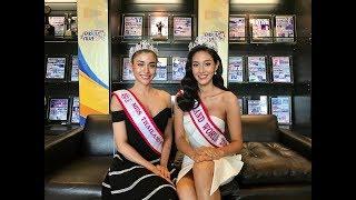 Miss Thailand World 2018 Nicolene Pichapa Limsnukan and 3rd place Helena Busch