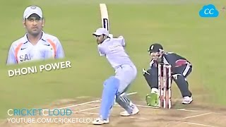 DHONI IN Ball OUT HIT 1st Ball for SIX MS DHONI POWER