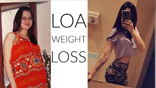 How I Lost Weight With The Law of Attraction *60 POUND TRANSFORMATION*