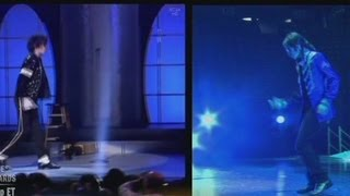 Compare Michael Jackson's dancing in 2001 to 2009