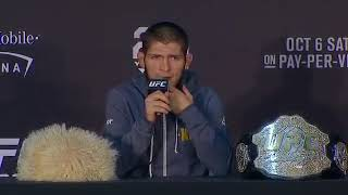 Khabib get on all the haters