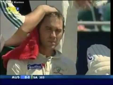 Justin langer Faints After Ntini Hits His Head