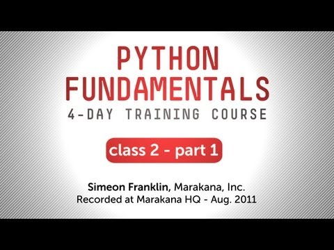 Python Fundamentals Training - More on Functions