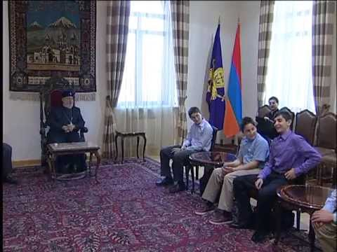 His Holiness Karekin II Receives the Students from the Hovnanian School