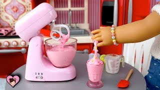 DIY Miniature Slime in Toy Mixer - Doll Bunk Bed Sleep Over  Routine Video