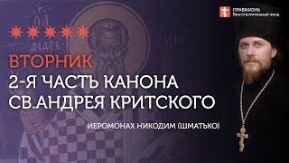 Покаянный канон преп. Андрея Критского. 2я часть. Вторник первой седмицы Великого Поста