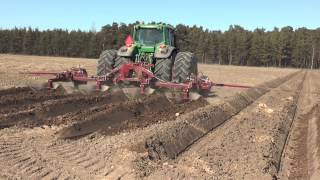 John Deere used for deep plowing before potato planting 2013 Part 1