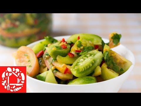 Каждый год готовлю такой салат! 💚💚💚 Настоящее объедение из зеленых помидоров!