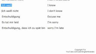 Basic expressions part 3 in German - German For Beginners