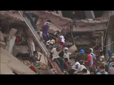 Dhaka Factory Collapse. 60 Pulled Alive From Rubble