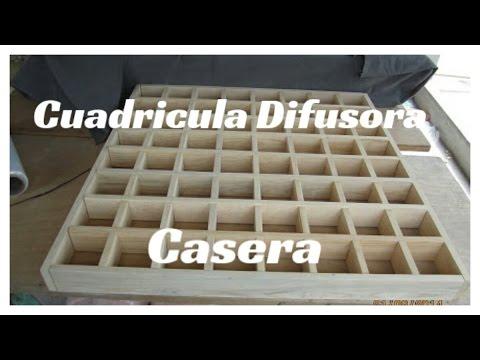 Estudio de Grabación Casero | Cuadricula Difusora | ¿Como Hacer Una Cuadricula Difusora?