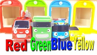 Learn Colors Tayo the little bus garage Tayo Frank Max Speedy Learning for Kids Funny Story