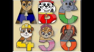Paw Patrol- 1, 2, 3. LEARN Pups Figures -  Numbers Counting -Toddler Nickelodeon Jr Video!