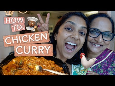 How To Make Chicken Curry Ft. MAMA PANDU!!! | Deepica Mutyala