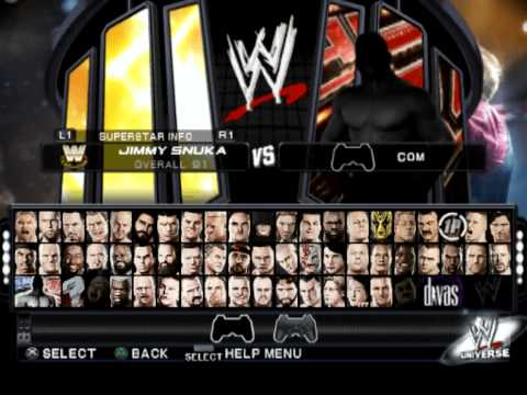 WWE Smackdown Vs Raw 2011 All Characters And 100% Complete Save Link