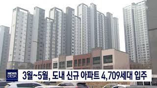 다음 달~5월, 도내 아파트 4천709세대 입주