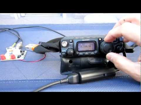 Portable QRP Magnetic Loop Antenna (40-10m)