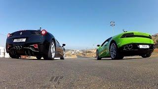 Lamborghini Huracan vs. Ferrari 458 Italia - لامبورغيني هوراكان بمواجهة فيراري 458 إيطاليا