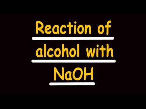 reaction of alcohol with NaOH  || jee || neet .