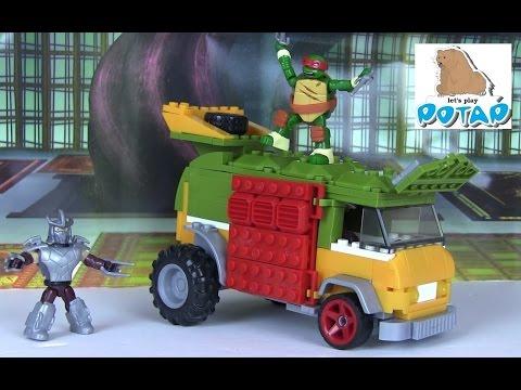 TMNT Party Wagon Черепашки Ниндзя Мультик. Раф Против Шреддера! Игры и Игрушки для Мальчиков