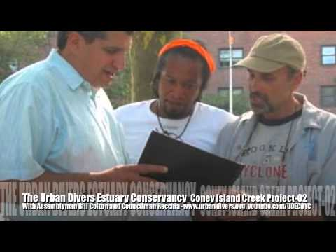 The Urban Divers Estuary Conservancy on the Coney Island Creek