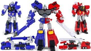 The King Of Braves GaoGaiGar3 ChoRyuJin 1Hyo Ryu 2En Ryu SuperMiniPla Toy Transformation