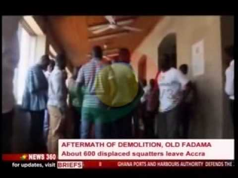 News360 - About 600 displaced leave Accra, Old fadama - 24/6/2015