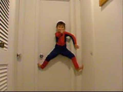 Spiderman Climbs Walls at Home