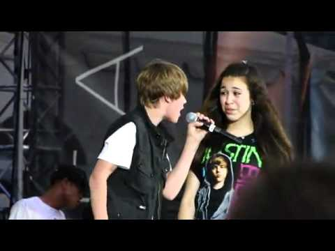 "Justin Bieber ON LIVE STAGE - also- Sneak Peek - ""As Long As You Love Me"" Video Clip - JUSTIN BIEBER"