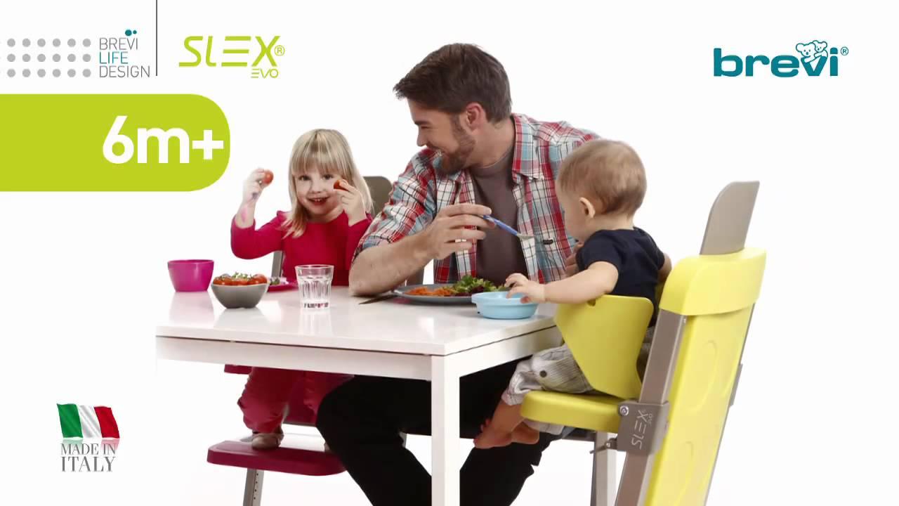 Brevi Slex Evo Adjustable Feeding Chairs Youtube