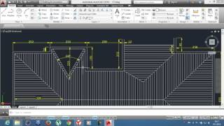 13-)UYGULAMA 4 Çatı Planı-Polyline ve Hatch /AutoCAD Education/