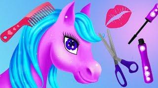 Fun Horse & Princess Hair Salon Makeup Care Games - Magic Princess Makeover Kids Games