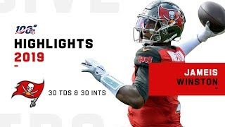 Jameis Winston 1st QB w/ 30 TDs & 30 INTs in a Season | NFL 2019 Highlights