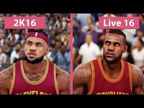 NBA 2K16 vs. NBA Live 16 Graphics Comparison [FullHD][60fps]