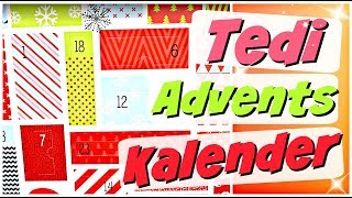 TEDI ADVENTSKALENDER 2018 Beauty & Kosmetik Weihnachtskalender Advent Calendar