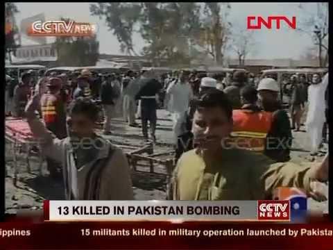 Peshawar Car Bomb Targets Bus Station killing 13 & Injuring 33
