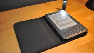 Amazon Kindle 3 Lighted Leather Cover_ Unboxing and Demo
