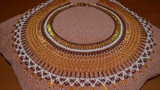 "Колье из бисера ""Клеопатра"".  Бисероплетение.  Мастер класс / Necklace of beads"
