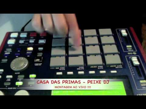 CASA DAS PRIMAS - PEIXE DJ ( MONTAGEM AO VIVO ) - YouTube