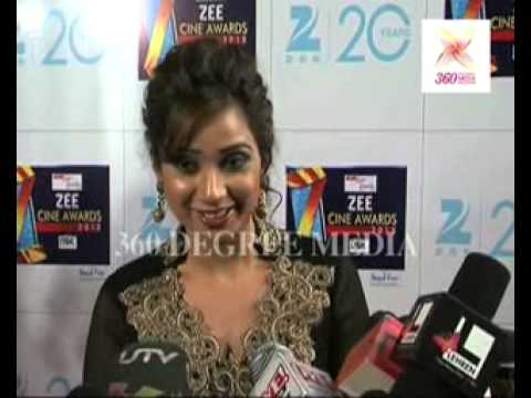 Singer Shreya Ghoshal Has Expectations From 'saans' (jthj) & 'radha' (soty)- Zee Cine Awards 2012 video