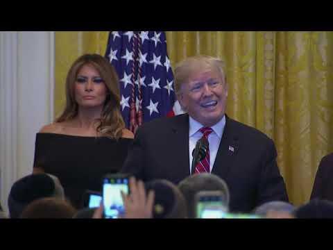 Trump celebrates Hanukkah with Holocaust survivors